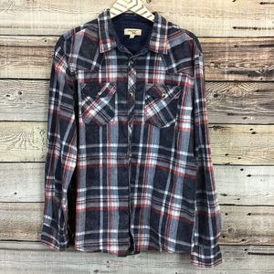 Triple Five Soul XL Long Sleeve Button Front Shirt